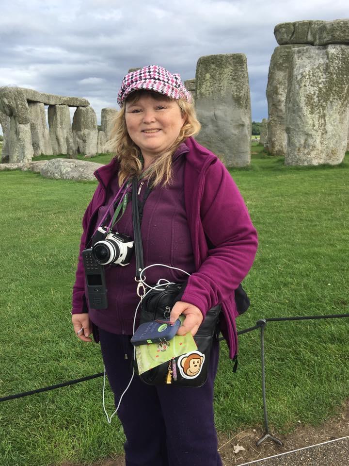 Vanessa at Stonehenge