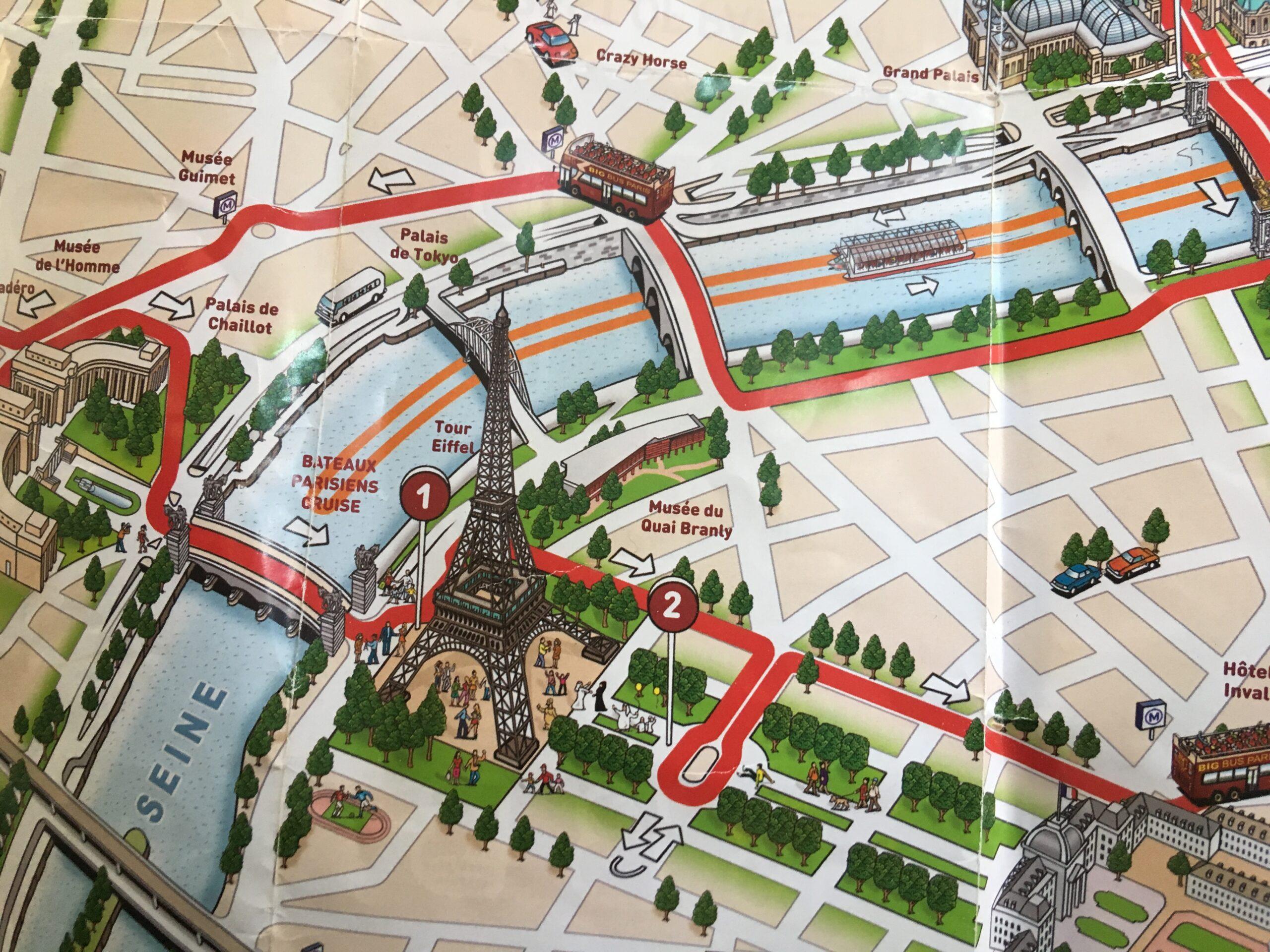 Bus map of Paris, France